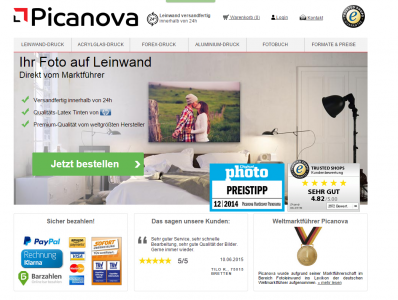 hochwertiger wandschmuck testbericht der picanova fotoleinwand. Black Bedroom Furniture Sets. Home Design Ideas
